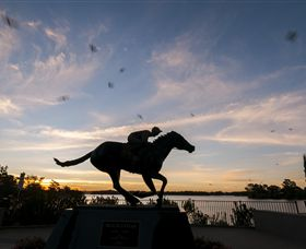 Black Caviar Statue - Great Ocean Road Tourism