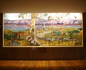 Adaminaby Memorial Hall Stage Curtain - Great Ocean Road Tourism