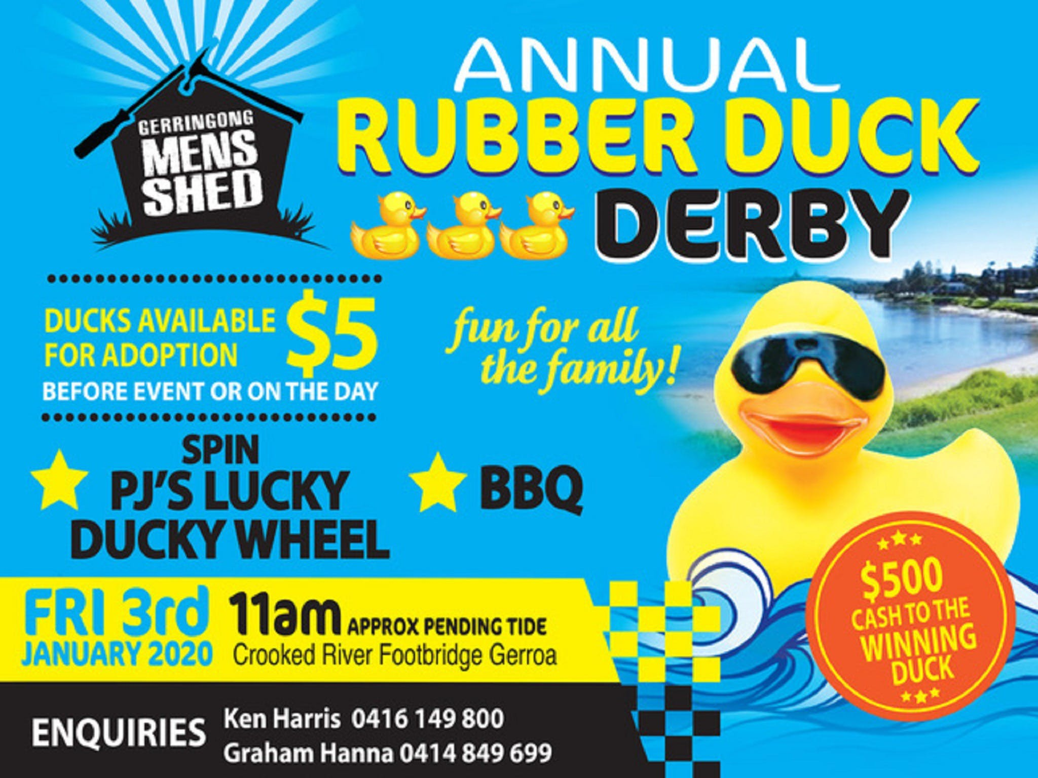 Gerringong Mens Shed Annual Duck Derby - Great Ocean Road Tourism